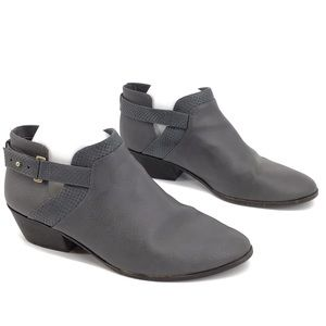 Dr. Scholls ankle booties gray snake size 11